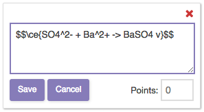 Chemical Expression in the Crowdmark Comment Field