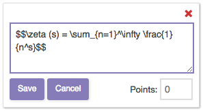 Mathematical Typesetting in a Crowdmark Comment Field