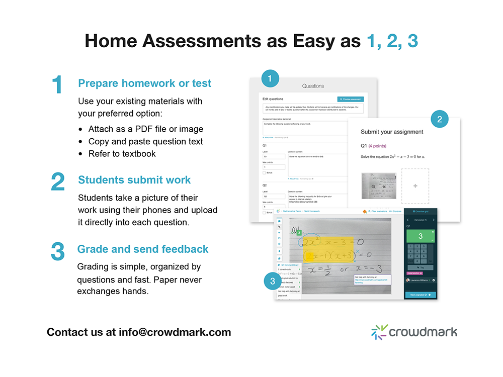 Steps to create a home assessment in Crowdmark